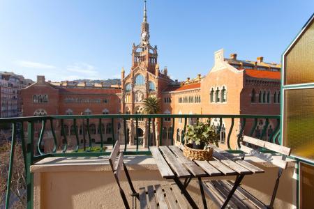 Piso de aqluiler junto al edificio modernista del Hospital Sant Pau
