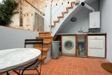 Splendid furnished flat for rent with two spectacular furnished terraces in Gracia