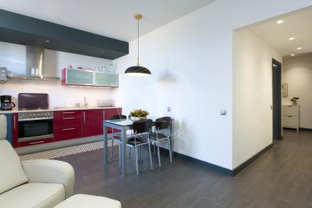 Spectacular one-bedroom penthouse to let in Aragó street