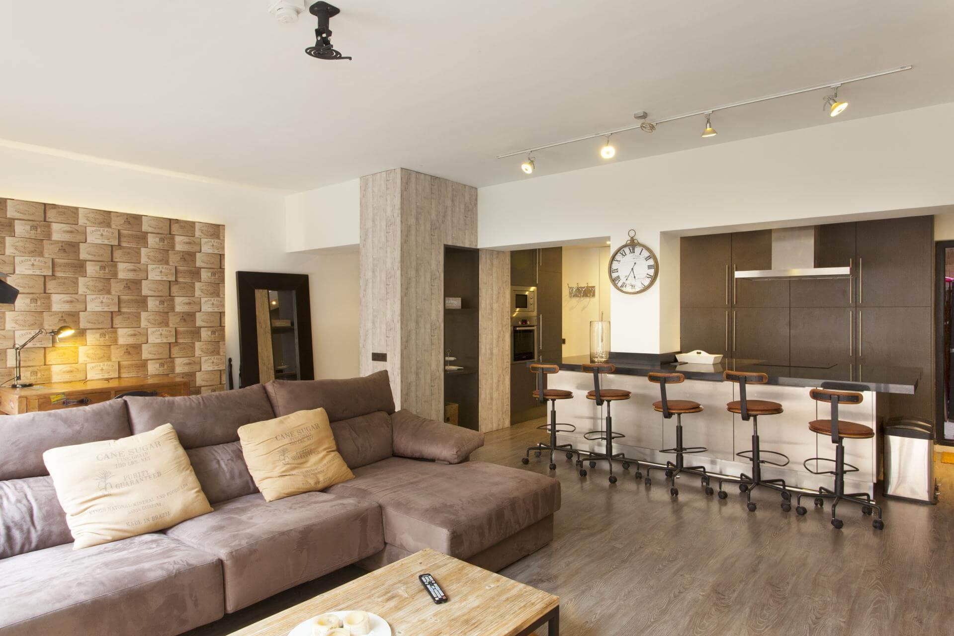 Shbarcelona appartement avec terrasse en location for Location appartement design barcelone