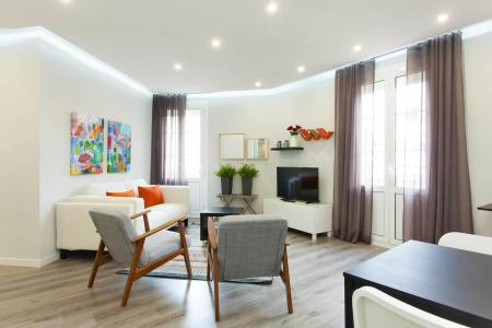Comfortable flat with three balconies and two bedrooms