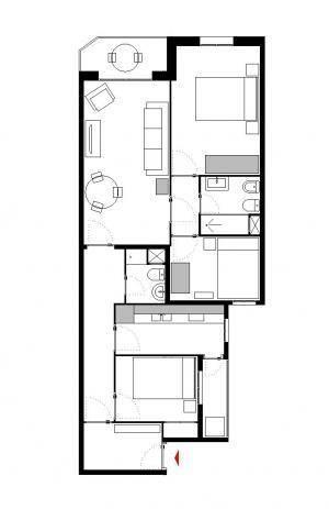 Moderno piso con 3 dormitorios y un coqueto balcón en L'Eixample