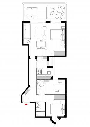 Apartamento mobiliado na rua Comte Borrel