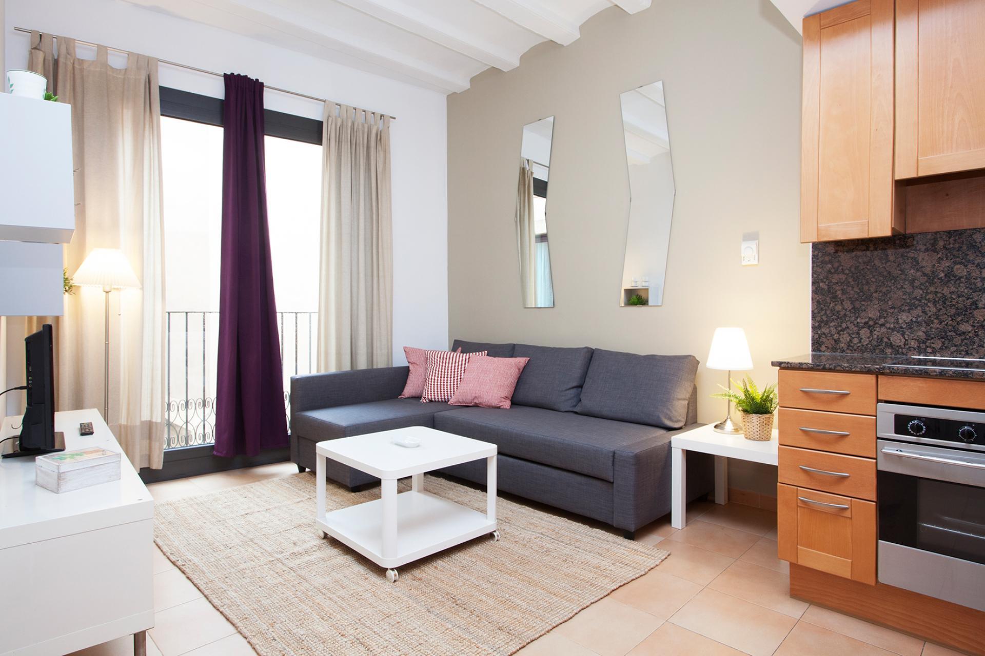 Moderno piso con balcón muy cerca del Museo Picasso, en El Born