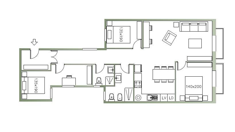 Wohnung zur Miete in Barcelona Aragó - Rambla De Catalunya