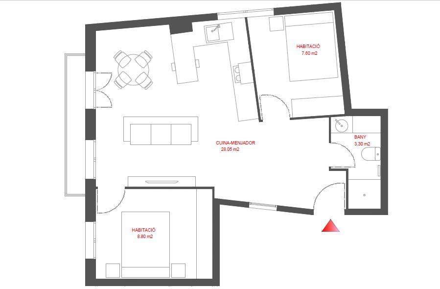 Appartement te huur in Barcelona Vallhonrat - Av. Paral.lel